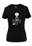 T-shirt damski na crossfit Ultra Light SKELETON DeadLift