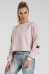Bluza damska Crop Top oversize DUSTY PINK