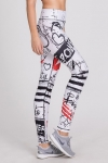Legginsy damskie do crossfitu LOVE White