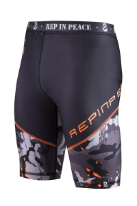 Men's Biker Short Leggings CAMO Orange