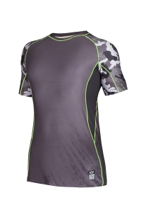 Rashguard męski do crossfitu CAMO Green