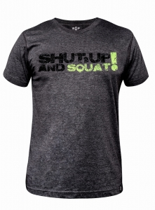 Koszulka męska na crossfit Tri-Blend SHUT UP & SQUAT