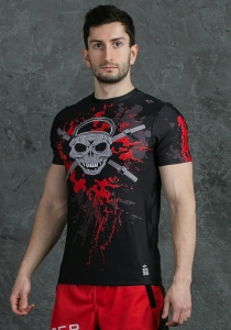 Men's Workout Rashguard EVIL SKULL
