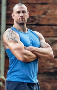 Tank top męski na trening BASIC BLUE