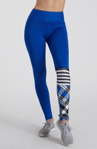 Damskie legginsy na fitness CHECK MATE Blue