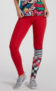 Damskie legginsy na fitness CHECK MATE Red