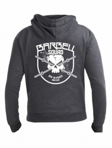 Men's Full Zip Hoodie BARBELL SQUAD