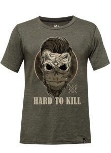 Męski T-shirt Crossfit Tri-Blend Khaki HARD TO KILL