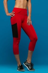 Legginsy Capri do biegania ANTILOPE Red