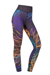 Legginsy damskie na jogę i fitness PARADISE ORANGE