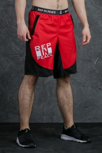 Men's Crossfit 2-in-1 Shorts ATOMIC RED