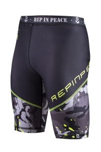 Men's Biker Short Leggings CAMO Green
