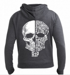 Men's Full Zip CrossFit Hoodie SKILL SKULL