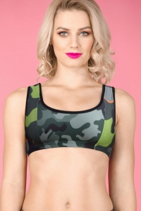 Camouflage Printed Non Padded Sports Bra DUO CAMO