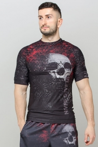 Men's Short Sleeve CrossFit Rashguard BLOODY SKULL