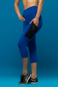 Legginsy Capri do biegania ANTILOPE Blue