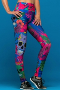 Running Women's Leggings MEXICAN SKULLS
