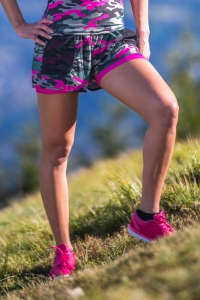 Women's Running 2-in-1 Shorts CARGO ARMY PINK